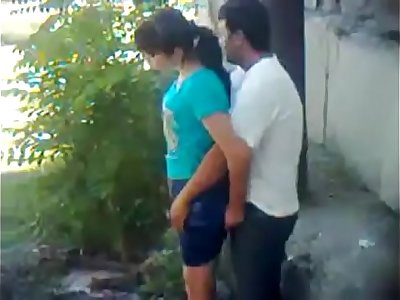 Indian Boy little girl fuck in park public place